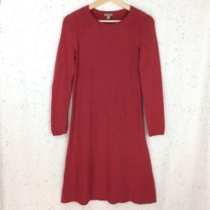 J. Jill Red Knit Long Sleeve Sweater Dress XS